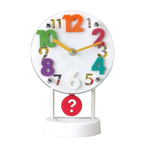 Round Shaped 3D Number Table Clock (TC-01) Price in Pakistan
