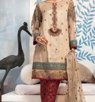 New Embroidered Masoori Dress with Net Dupatta (Unstitched) (CHI-306) Price in Pakistan