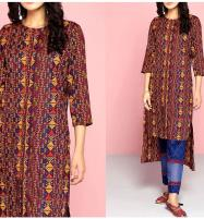 2-Pcs Full Front Heavy Embroidered Lawn Dress 2020 with Embroidered Trouser (UnStitched) (DRL-498) Price in Pakistan