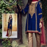 Chiffon Embroidery Suite With Chiffon Dupatta Unstiched - (CHI-320) Price in Pakistan
