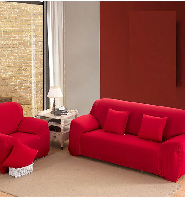 5 seater Jersey Sofa Cover - RED (3 + 1 +1 Seater) Price in Pakistan