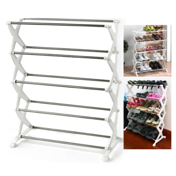 5 Shelf Portable Shoe Rack Holds upto 15 Pairs Price in Pakistan