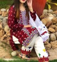 Ajrak Lawn Embroidery Suit Lawn Dupatta UnStitched (DRL-651) Price in Pakistan