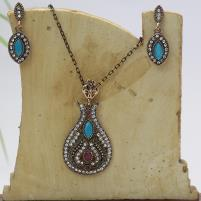Beautiful Antique Turkish Designs Necklace Set For Ladies (PS-134) Price in Pakistan