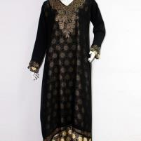 Black Nida Abaya For Women With Scarf  (AB-38) Price in Pakistan