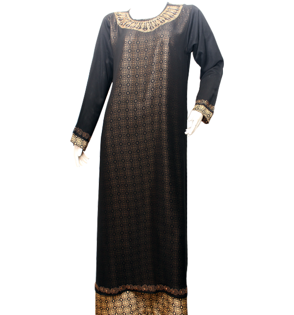 Black Nida Fabric Abaya for Women With Scarf (AB-34) Price in Pakistan
