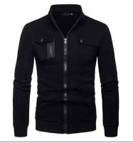 Black Zip Pocket Zipper Jacket For Men Price in Pakistan