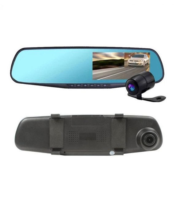 Car DVR Mirror DUAL Camera Front/Back 1080p Price in Pakistan