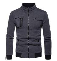 Charcol Grey Zip Pocket Zipper Jacket For Men Price in Pakistan