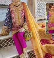 CHIFFON EMBROIDERED DRESSE WITH NET DUPATTA  (CHI-361) Price in Pakistan