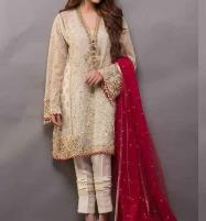 Chiffon Embroidery Suit With Net Embroidery Duppata Unstitched (CHI-204) Price in Pakistan