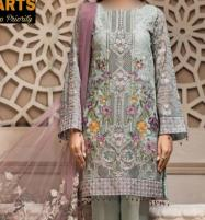 Chiffon Suit With Net DUPATTA Unstitched (CHI-314) Price in Pakistan