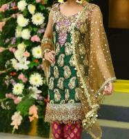 Chiffon With Zari Work With Net Duppata Unstitched (CHI-196) Price in Pakistan