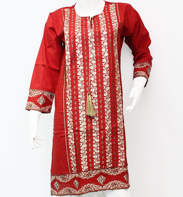 Cotton Embroidered Kurti Stitched (EK-35) Price in Pakistan