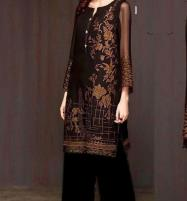 Velvet Embroidered 2PC Suit Jamawar Trouser (UnStitched) (CHI-309) Price in Pakistan
