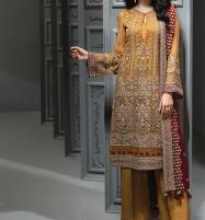 Designer Embroidered Chiffon Unstitched 3 Piece Suit 2020 (CHI-349) Price in Pakistan
