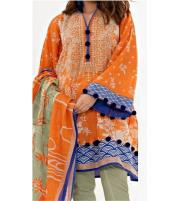 EID SALE Embroidered Lawn Suit With Lawn Dupatta (DRL-324) (Unstitched) Price in Pakistan
