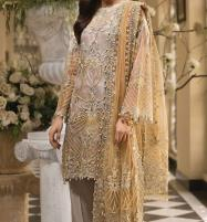 Designer Embroidered Organza Unstitched 3 Piece Suit (CHI-307) Price in Pakistan
