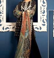 Designer Neck Embroidery Lawn Suit 2019 With Chiffon Dupatta (DRL-276) (UnStitched) Price in Pakistan