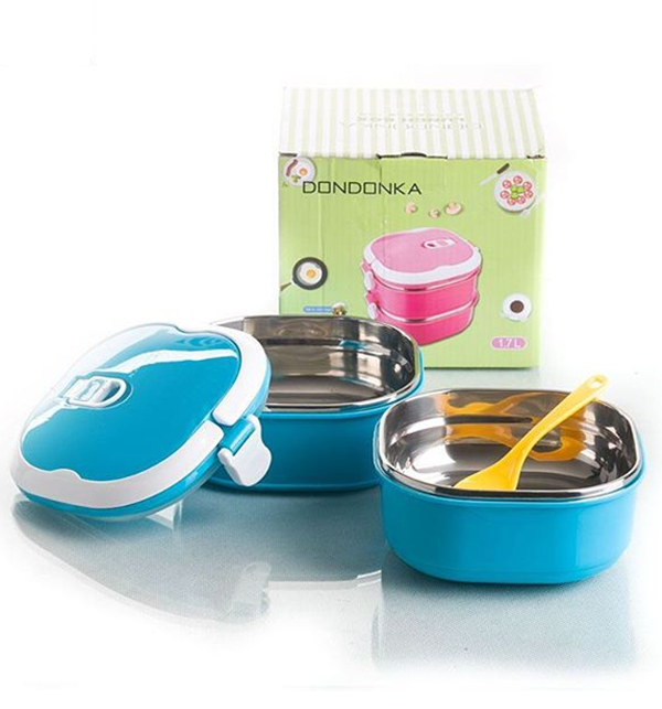 Dondonka Lunch Box 2 Layer Stainless Steel Price in Pakistan