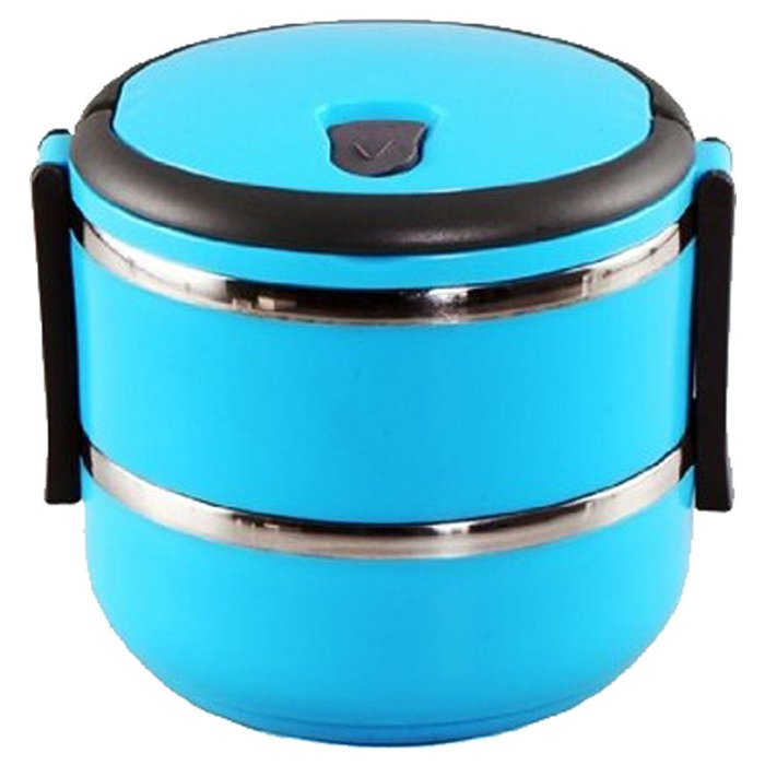 Easy Lock Stainless Steel Lunch Box 2 Layers (LB-02) Price in Pakistan