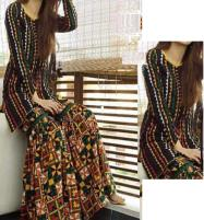 Eid 2-Pcs Heavy Embroidered Lawn 80/80 Dress With Embroidered Trouser 2020 UnStitched (DRL-650) Price in Pakistan