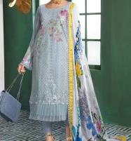 Eid Collection Embroidered Chikankari Lawn Suit 2020 with Silk Dupatta  (Unstitched ) (DRL-524) Price in Pakistan