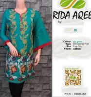 Kurti Stitched Full Front Embroidery Sea Green (RA-1021) Price in Pakistan