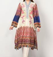 LAWN EMBROIDERED DRESS WITH LAWN DUPATTA  UnStitched (DRL-628) Price in Pakistan
