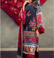 Heavy Embroidered Black Lawn Dress 2020 with Chiffon Dupatta (UnStitched) (DRL-594) Price in Pakistan