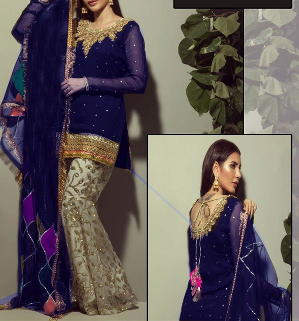 Embroidered Chiffon Dress Embroidered Trouser (CHI-235) (Unstitched) Price in Pakistan