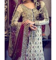 Chiffon Embroidered Bridal Suit Unstitched (CHI-25) Price in Pakistan