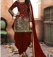 Embroidered Chiffon Party Dress (Unstitched) (CHI-162) Price in Pakistan