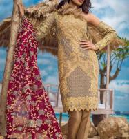 Embroidered Chiffon Suit Collection 2018 (Unstitched) (CHI-146) Price in Pakistan