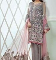 Heavy Embroidered Net Suit (CHI-133) (Unstitched) Price in Pakistan