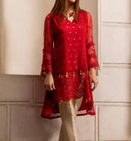 Embroidered Chiffon Unstitched Kurtis (EK-92) Price in Pakistan