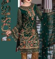 Embroidered Chiffon Suit with Jamawar Trouser UnStitched (CHI-172) Price in Pakistan