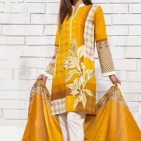 Embroidered Lawn Dress with Chiffon Dupatta (DRL-443) (Unstitched) Price in Pakistan