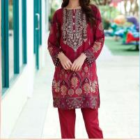 Embroidered Lawn Dress with Chiffon Dupatta (DRL-446) (Unstitched) Price in Pakistan