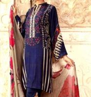 Embroidered Lawn Dress with Chiffon Dupatta  UnStitched (DRL-626) Price in Pakistan