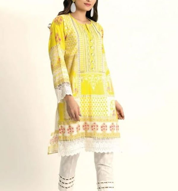 Embroidered Lawn Suit With Chiffon Dupatta (DRL-391) (Unstitched) Price in Pakistan