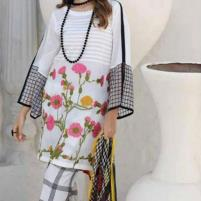 Heavy Embroidered Lawn Suit with Chiffon Dupatta - (DRL-427) (UnStitched) Price in Pakistan