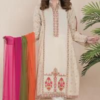 Embroidered Lawn Suit with Chiffon Dupatta Unstitched (DRL-419) Price in Pakistan