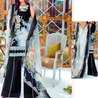 Lawn Embroidered Suit With Chiffon Dupatta  (DRL-438) (Unstitched) Price in Pakistan