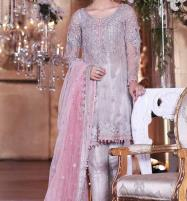 Embroidered Net Dress With Net Dupatta (CHI-50) Price in Pakistan