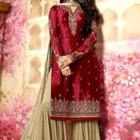 Embroidered Silk Chiffon Wedding Dress 2020 with Embroidered Chiffon Dupatta Unstitched (CHI-327) Price in Pakistan