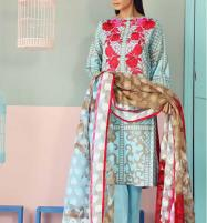 Embroidery Lawn Suit With CHIFFON Dupatta (DRL-301) (UnStitched) Price in Pakistan