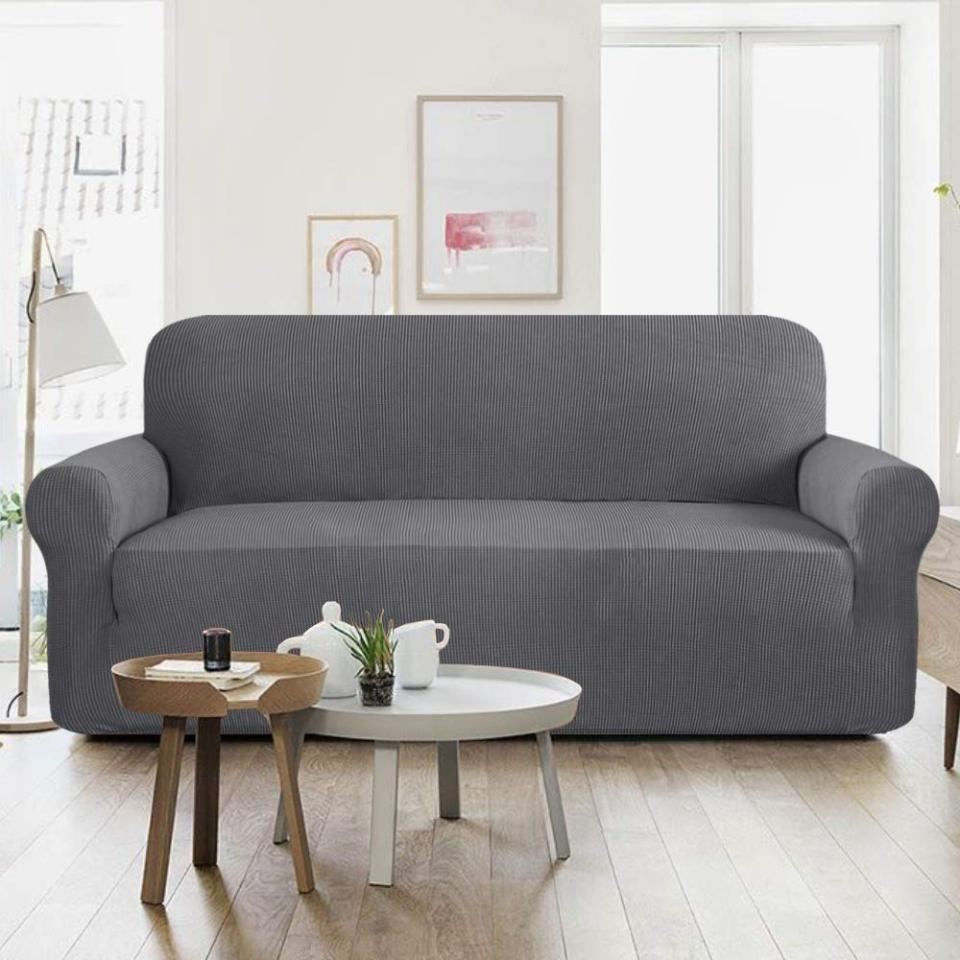 Fitted Sofa Covers - 5 Seater - Grey Price in Pakistan