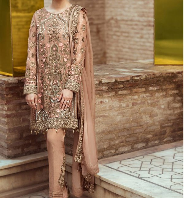 Full Heavy Embroidered Chiffon Suit With Chiffon Embroidered Dupatta Unstitched (CHI-176) Price in Pakistan