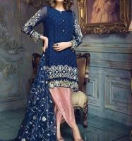 Fully Embroidered Chiffon 3 Pc Unstitched Suit With Embroidered Net Duppata (CHI-301) Price in Pakistan